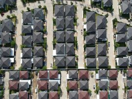 Aeriall view group of new home and house residential top view